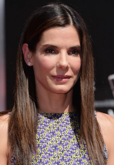 Sandra Bullock Long Hairstyle:Straight Hair