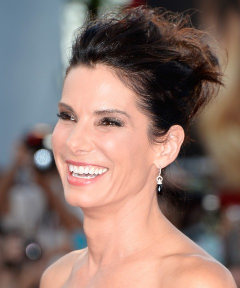 Sandra bullock updo messy locks pretty designs