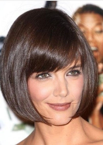 Short Bob Haircut with Blunt Bangs for Thin Hair