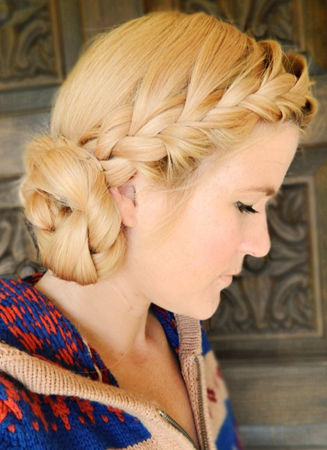 Side Chignon Tutorials: Diy Double Braided Updo Hairstyles