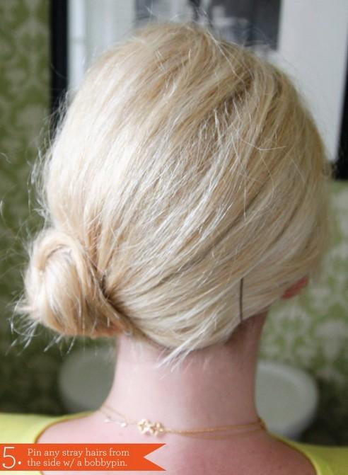 Side Chignon Tutorials: Easy Bun Updos for Medium Hair for Prom