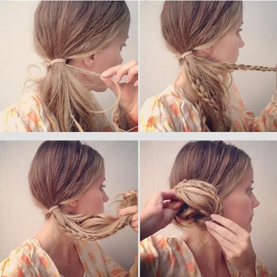 Side Chignon Tutorials: Micro Braids Updos for Girls