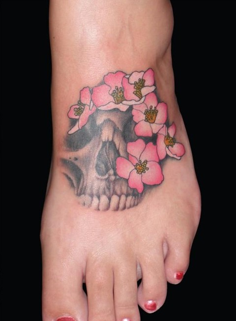 Skull Tattoo Foot