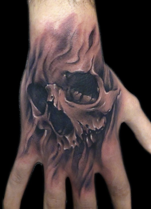 Skull Tattoo on hand