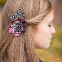 Straight Hair with Accessories for Prom Hairstyles