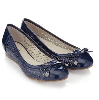 Tarama Cutwork Ballerina Flats, black