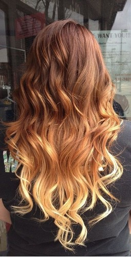 The Amazing Light Brown Ombre Curly Wavy Hairstyle