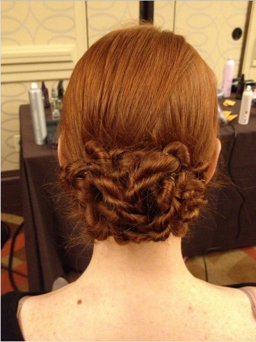 The Beautiful Flower-shaped Low Updo Hairstyle