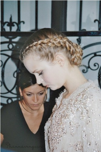 The Braided Back Bun Hairstyle for Blond Hair
