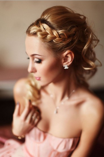 The Easy Ponytail with Braided Bangs for Wedding Hairstyle