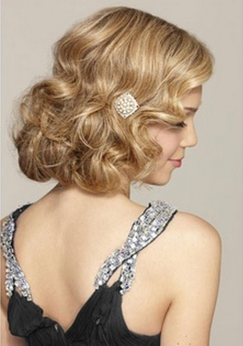 the faux bob curly blond hair for wedding hairstyles