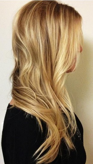 The Gorgeous Long Layered Blond Hairstyle with Side Swept Bangs