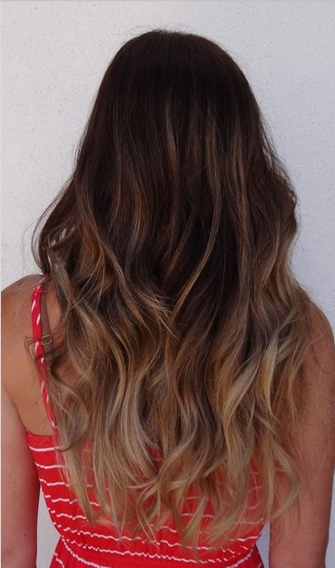 The Long Layered Ash Blond Ombre Wavy Hairstyle