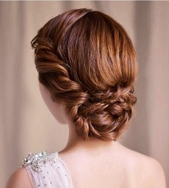 The Low Braided Framing Updo Hairstyle for Brown Hair