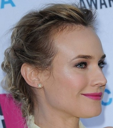 The Messy Updo Hairstyle for Mid-length Hair