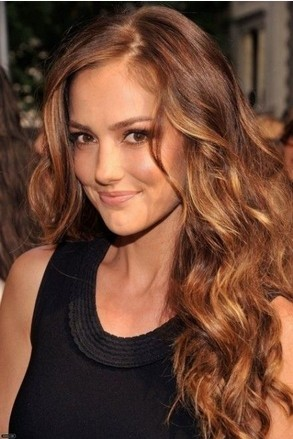 The Side Parted Long Curly Ombre Hairstyle