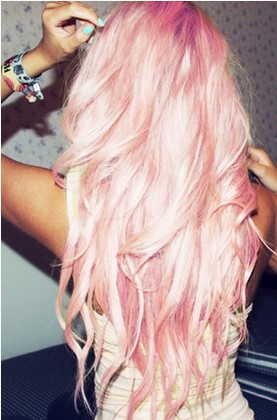 The Stunning Very Long Wavy Pink Hair