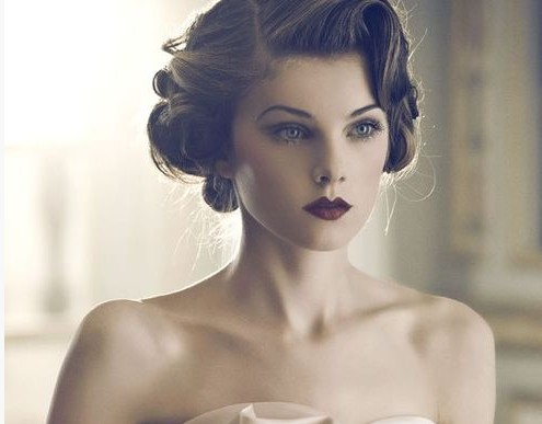 4 Glamorous Vintage Wedding Hairstyles , Pretty Designs