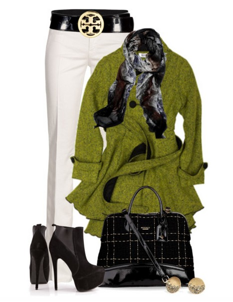 The Trendy Outfit Idea,green windbreak, white jeans and black ankle boots