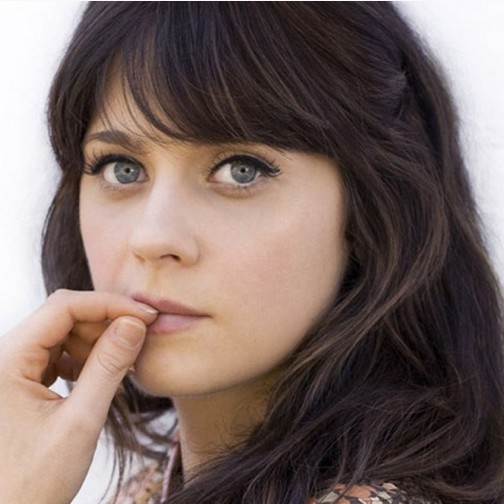 The Zooey Deschanel Bangs for Long Wavy Brunette HairZooey Deschanel Bangs Cut