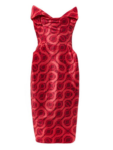 VIVIENNE WESTWOOD GOLD LABEL Exclusive Lilly double squiggle-print dress, red
