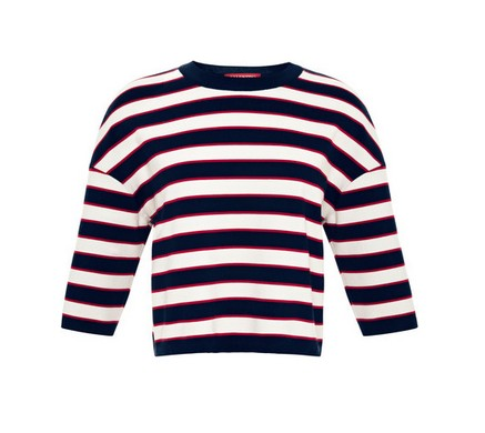 Valentino Striped Cotton-Jersey Top, Striped Sweater