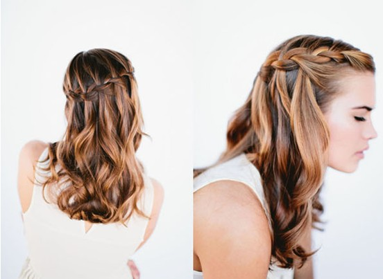 8 Cute Waterfall Twist Tutorial: Long Hairstyles Ideas - Pretty Designs