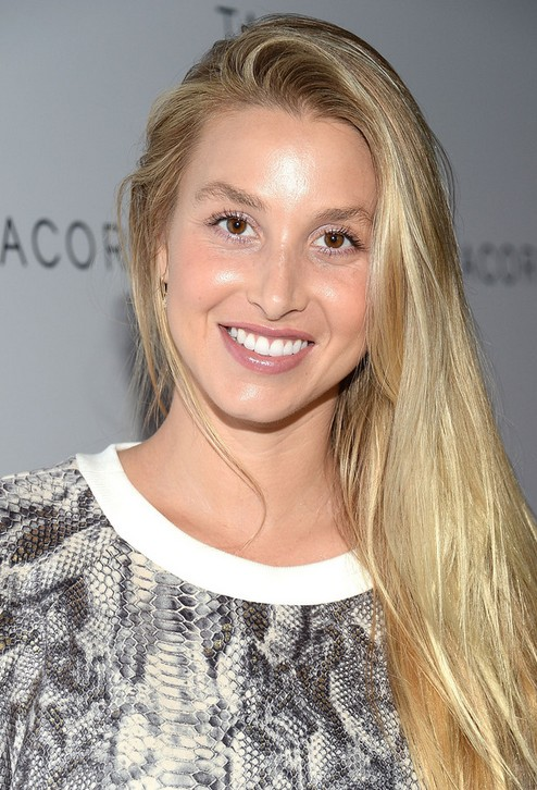Whitney Port Long Hair style: 2014 Side Sweep