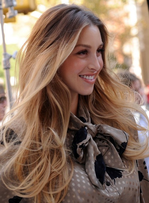 Whitney Port Long Hairstyle: Big Waves