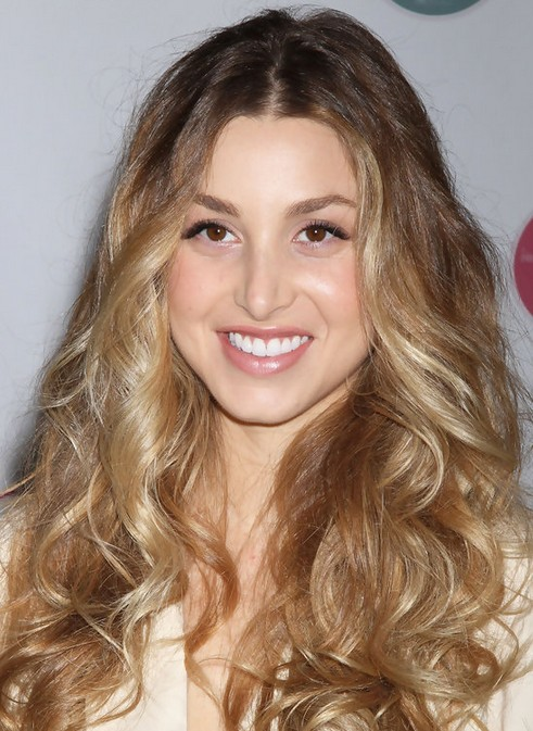 Whitney Port Long Hairstyle: Blonde Curls
