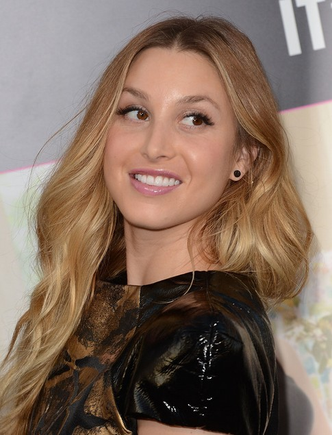 Whitney Port Long Hairstyle: Center Part