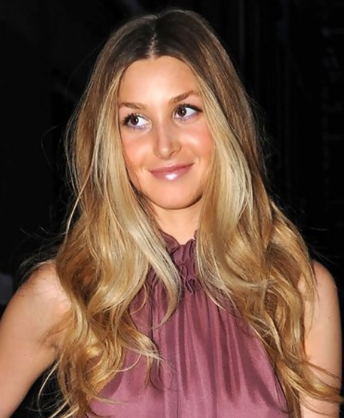 Whitney Port Long Hairstyle: Curls for Holiday