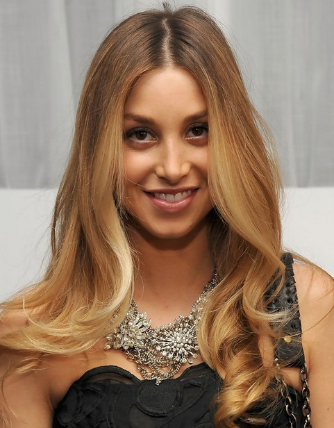 Whitney Port Long Hairstyle: Curly Ends