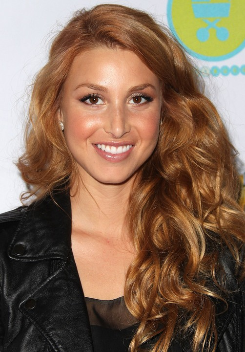 Whitney Port Long Hairstyle: Heavy Curls