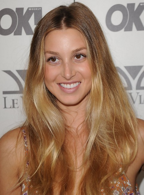 Whitney Port Long Hairstyle: Highlighted Hair