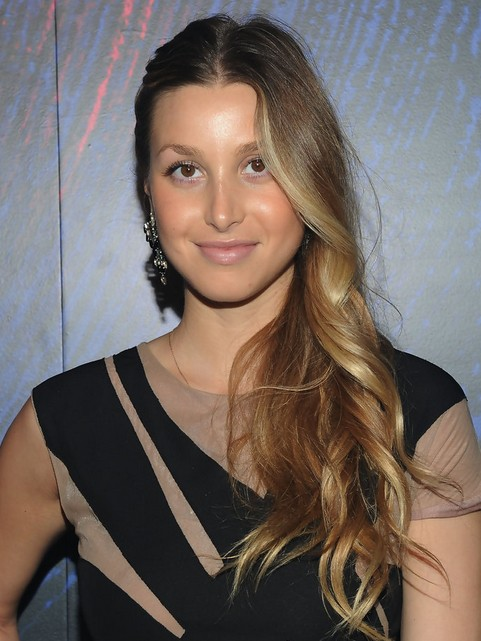 Whitney Port Long Hairstyle: Side Sweep