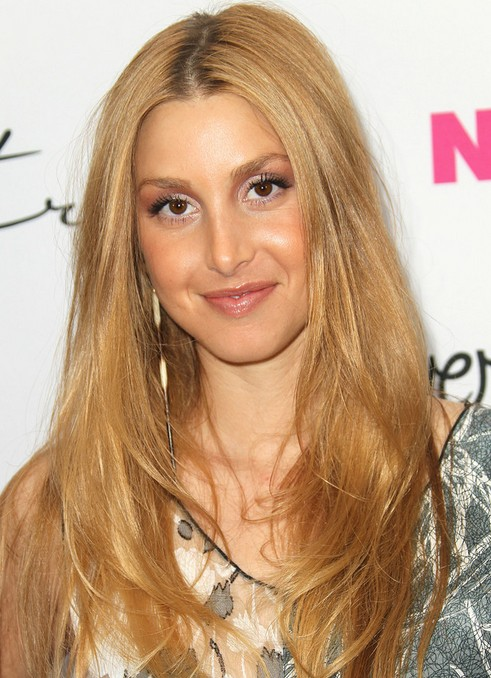 Whitney Port Long Hairstyle: Straight Hair with Side Part