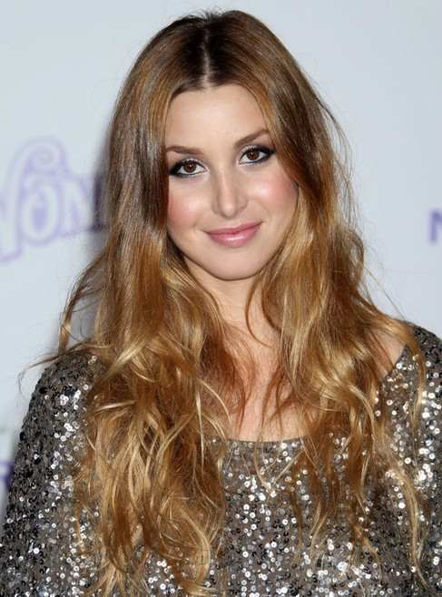Whitney Port Long Hairstyle: Two-tone Hair