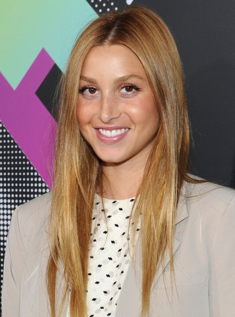 Whitney Port Long Hairstyle: Uneven Hair