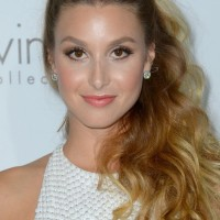 Whitney Port Long Hairstyles: 2014 Side Parted Ponytail