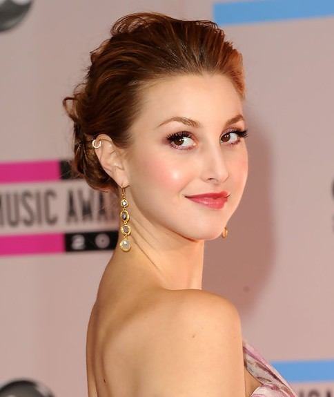 Whitney Port Updo: Loose Bun