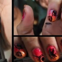 catching fire nail polish