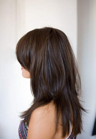 Fantastic Long Layered Hairstyle With Side Bangs For Straight Hair