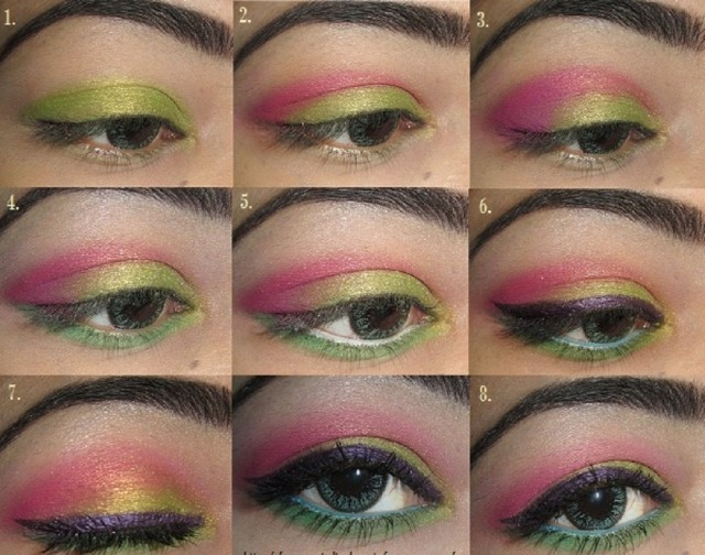 11 Great Makeup Tutorials for Different Occasions: Colorful Party Look