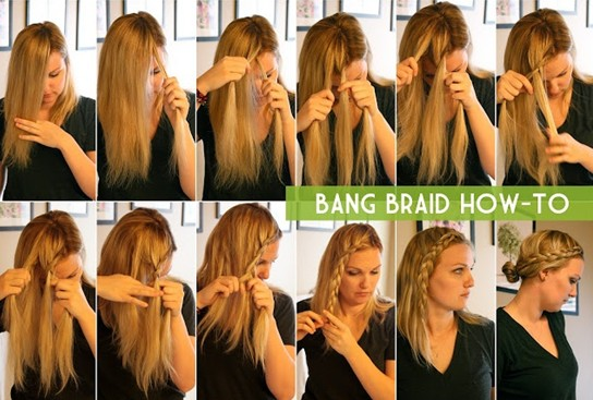 15 Braided Bangs Tutorial: Bang Braid How-to