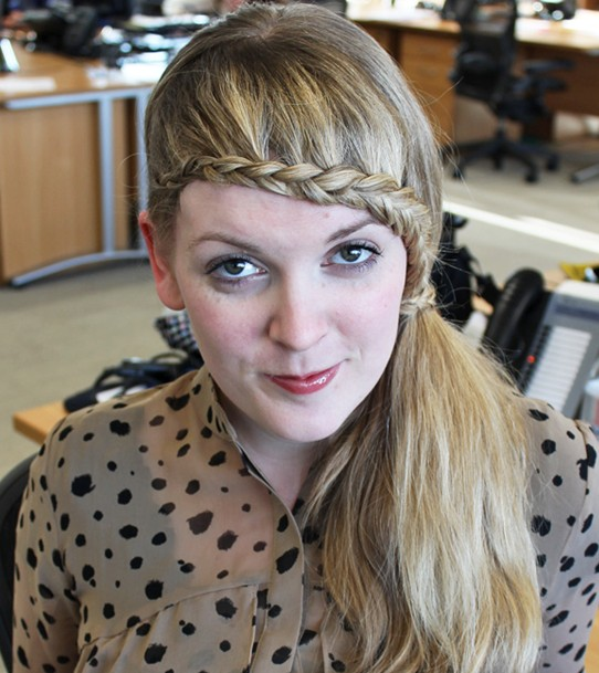 15 Braided Bangs Tutorial: Cute Braided Hairstyles with Low Ponytail