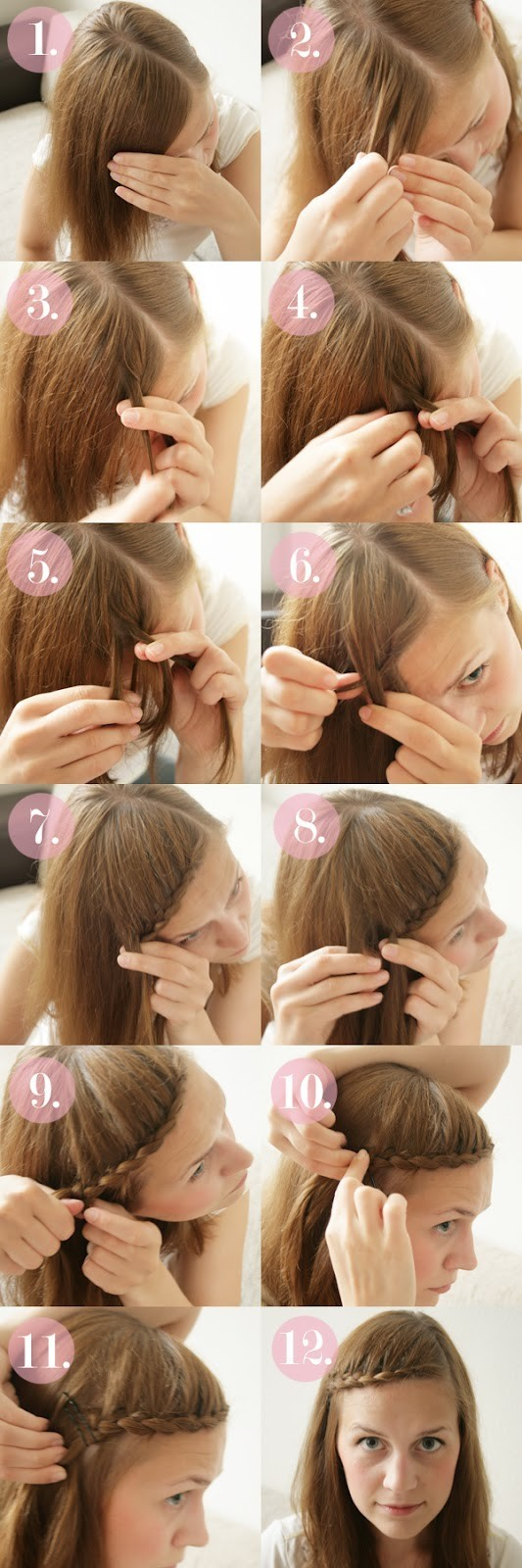 15 Braided Bangs Tutorial: Cute Braided Hairstyles