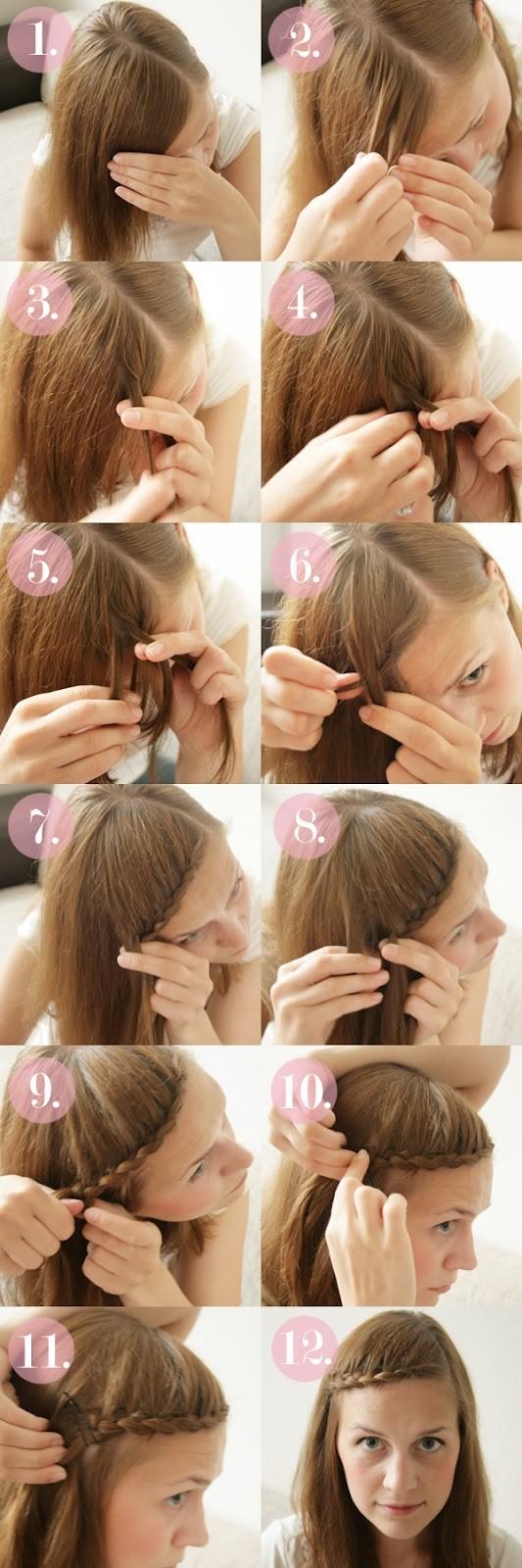 Remarkable 15 Braided Bangs Tutorials Cute Easy Hairstyles Pretty Designs Hairstyles For Men Maxibearus