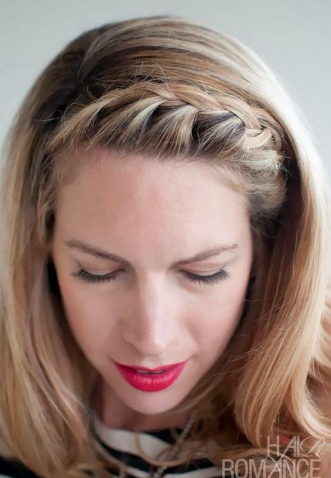 Awe Inspiring 15 Braided Bangs Tutorials Cute Easy Hairstyles Pretty Designs Hairstyles For Men Maxibearus