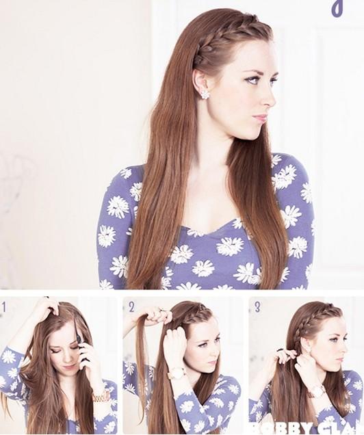 15 Braided Bangs Tutorials Cute Easy Hairstyles Pretty Designs